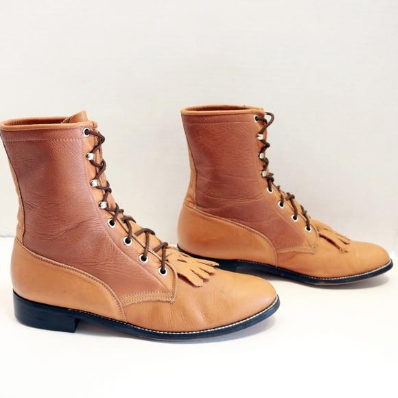 4244e7be725 Diamond J Roper brown women lacers boots size 10